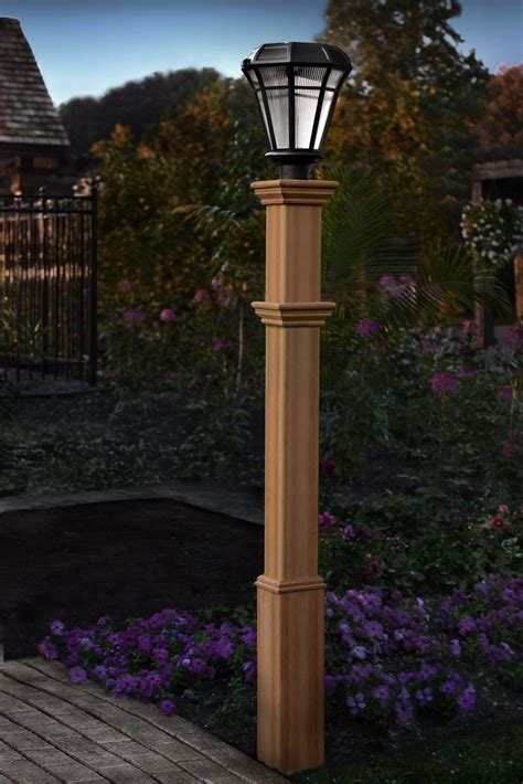 Diy Wood Light Posts Outdoor